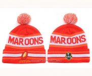 NRL Beanies Queensland Maroons Red White Orange