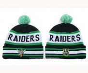 NRL Beanies Oakland Raiders Verde Black White