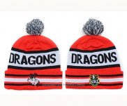 NRL Beanies St George Illawarra Dragons Red White Black